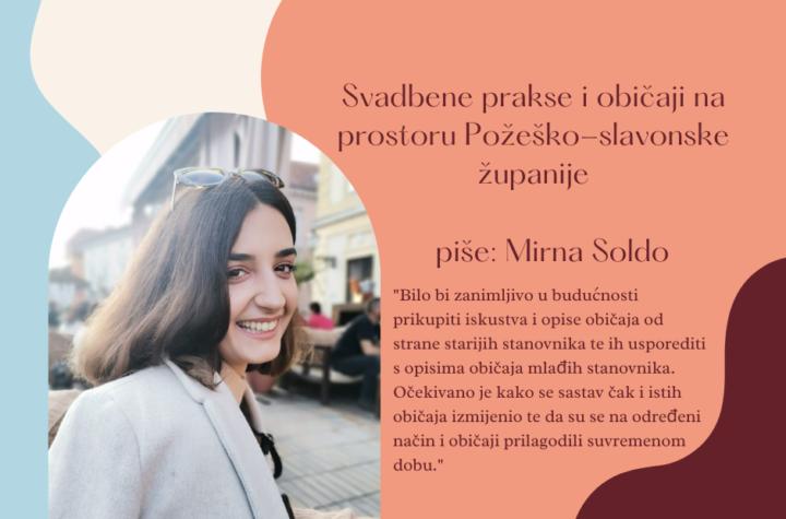 Mirna Soldo - običaji i svadbene prakse Požeško slavonske županije