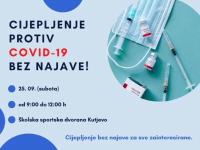 OBAVIJEST: cijepljenje protiv COVID-19 bez najave